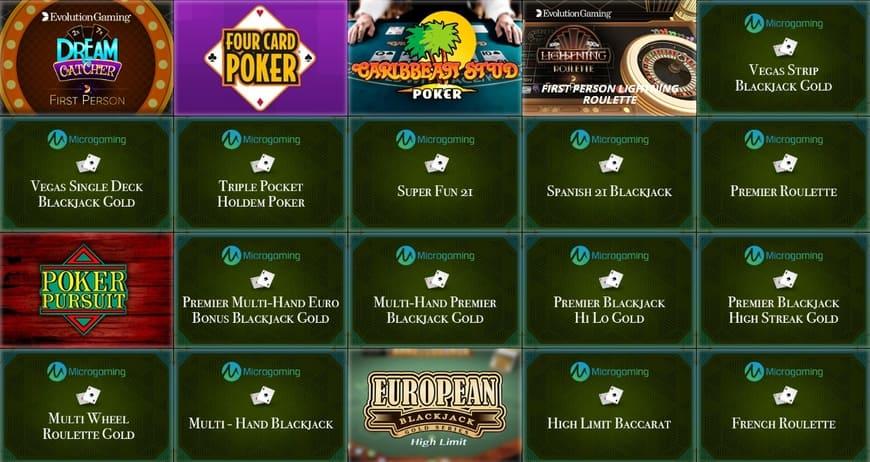 SlotV casino Brettspiele